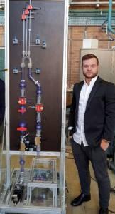 Chambre in vitro reprenant la technologie Pulso et le porteur du projet Marco Testaguzza