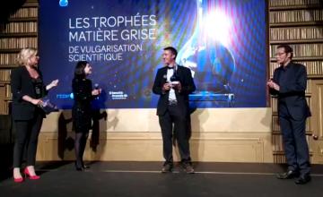 Guillaume Caulier reçoit un prix coup de cœur de vulgarisation scientifique de Matière Grise