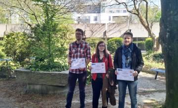 Trois doctorants du Département de Chimie ont raflé les prix lors d'une conférence de la Société Royale de Chimie.