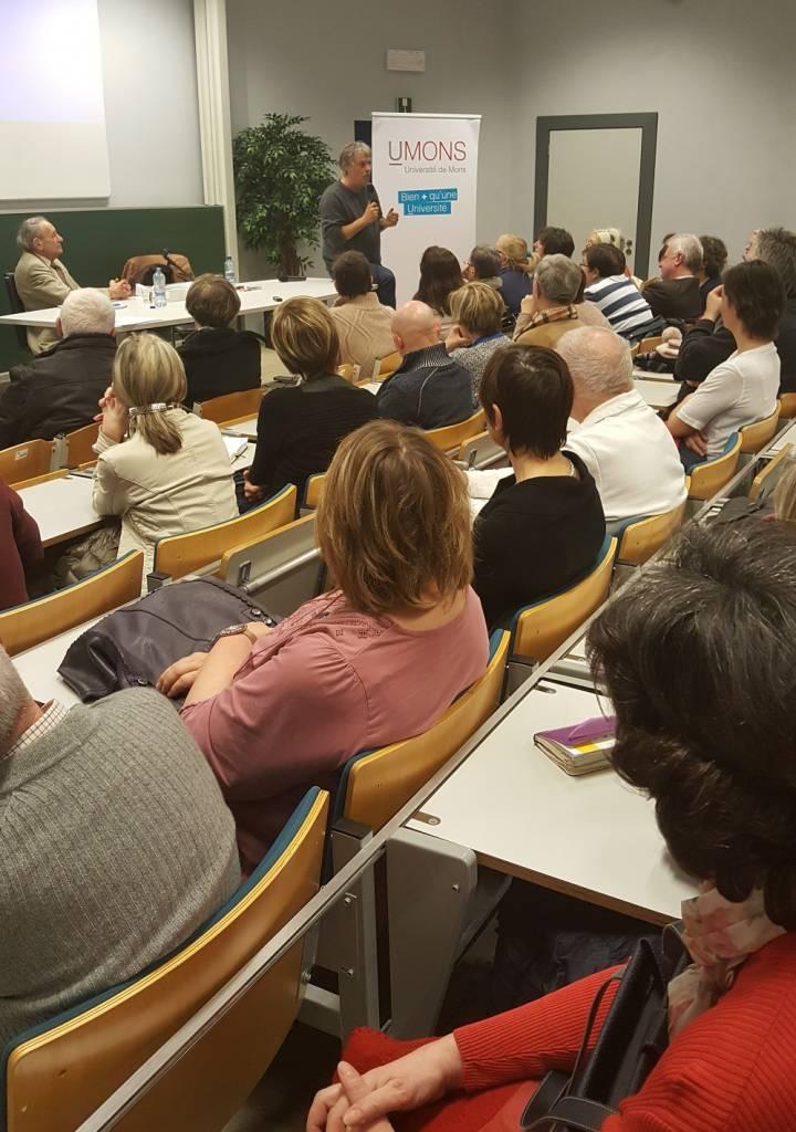 Altruisme et bienveillance, une brillante conférence à deux voix à l'UMONS Charleroi