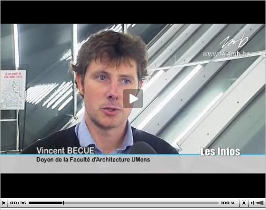 Conférence sur l'architecture dans le cadre de Mons 2015