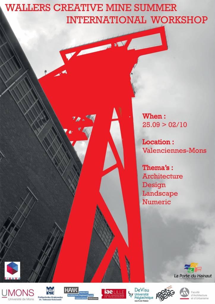 32 étudiants européens réunis à Wallers (F) sous la houlette de la fac d'archi et d'urbanisme de l'UMONS