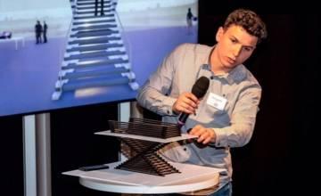 Un étudiant en archi brille à un concours international de conception d'escaliers à Lyon