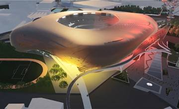Premier prix dans la catégorie « Overall Design » pour trois étudiants de la FA+U dans le cadre du concours d'idées « Golden Generation Arena »