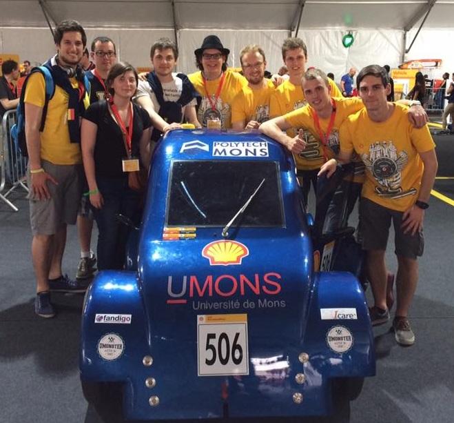 178 km avec 1 L de carburant à l'Eco-Shell Marathon 2017 de Londres pour la Polytech