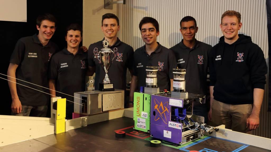 Les étudiants de la Faculté Polytechnique (UMONS) à nouveau champions de Belgique de robotique