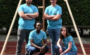 5 étudiants de Master Ingénieur civil architecte au «Défi Structure 2021»