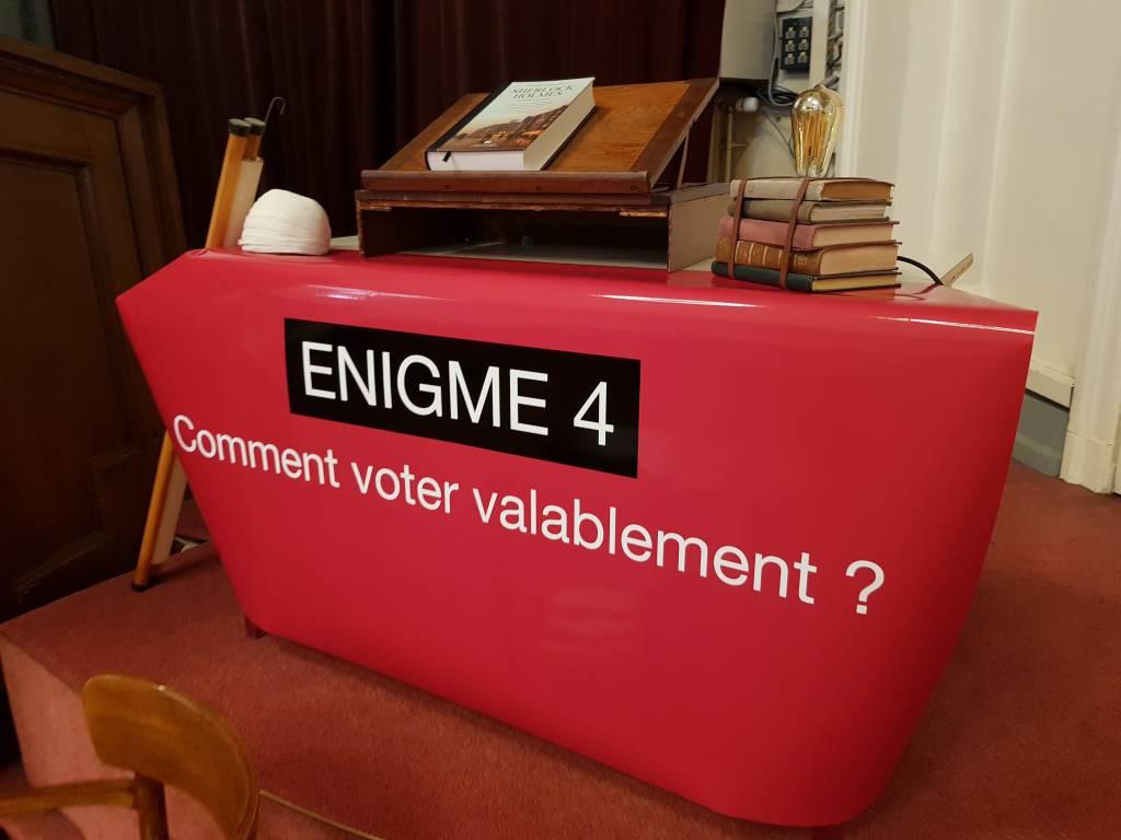 Un Escape Room pour apprendre aux rhétos à voter