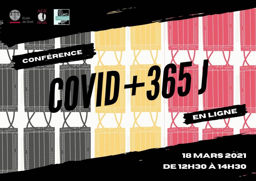 Conférence-débat Covid +365J ce jeudi 18 mars