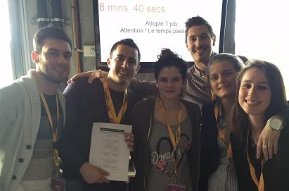 Belle deuxième place pour les étudiants de la Faculté Warocqué au Business Game « Adopte un job »